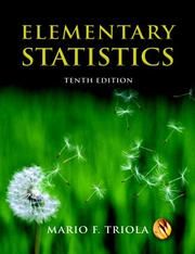 Elementary statistics by Mario F. Triola