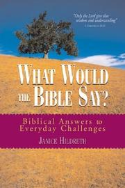 What Would the Bible Say ? PDF