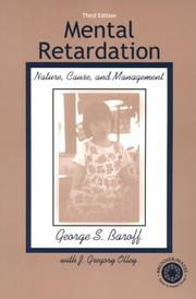 Mental Retardation by George S. Baroff