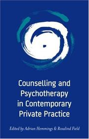 Counselling and Psychotherapy in Contemporary Private Practice PDF