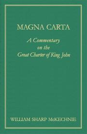 Magna Carta by William Sharp McKechnie