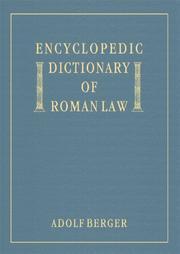 Encyclopedic dictionary of Roman law PDF