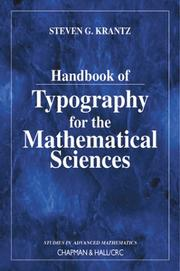 Handbook of typography for the mathematical sciences by Steven G. Krantz