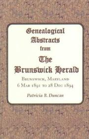 Genealogical Abstracts from The Brunswick Herald by Patricia B. Duncan