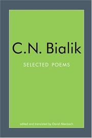 Poems by Hayyim Nahman Bialik
