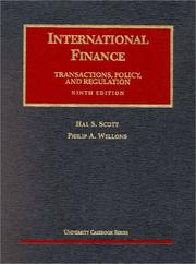 International finance by Hal S. Scott