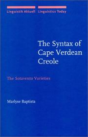 The Syntax of Cape Verdean Creole by Marlyse Baptista