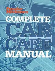 Popular Mechanics Complete Car Care Manual (Popular Mechanics) PDF
