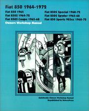 Fiat 850 1964-72 Owners Workshop Manual (Autobooks) PDF