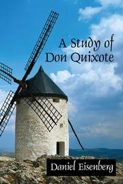 A study of Don Quixote by Daniel Eisenberg