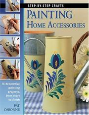 Painting home accessories by Pat Osborne