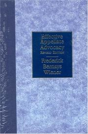 Effective appellate advocacy by Frederick Bernays Wiener