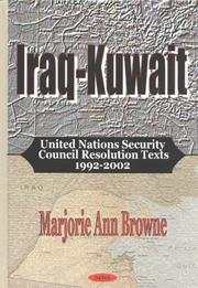 Iraq-Kuwait by Marjorie Ann Browne