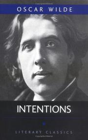 Cover of: Intentions by Oscar Wilde
