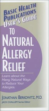 User's Guide to Natural Allergy Relief PDF
