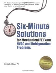 Six-Minute Solutions for Mechanical PE Exam HVAC and Refrigeration Problems PDF