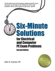 Six-minute solutions for electrical and computer PE exam problems PDF
