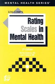 Rating scales in mental health PDF