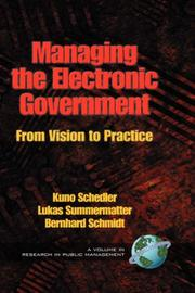 Managing the electronic government by Kuno Schedler