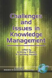 Cover of: Challenges and Issues in Knowledge Management by Anthony Buono