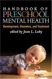 Handbook of Preschool Mental Health PDF