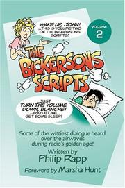 The Bickersons scripts by Philip Rapp