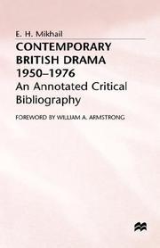 Contemporary British drama, 1950-1976 PDF