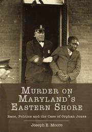 Murder on Maryland's Eastern Shore by Joseph E. Moore