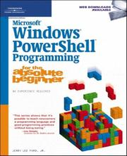 Microsoft Windows PowerShell Programming for the Absolute Beginner PDF