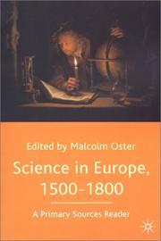 Science in Europe, 1500-1800 PDF