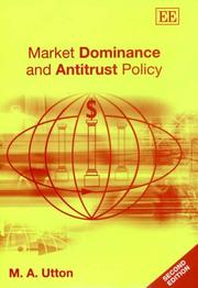 Market Dominance and Antitrust Policy by M. A. Utton