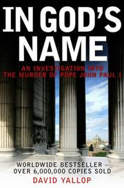 In God&#39;s name by David A. Yallop