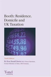 Booth: Residence, Domicile and Uk Taxation PDF