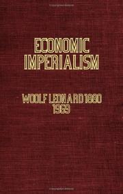 Economic imperialism by Leonard Woolf
