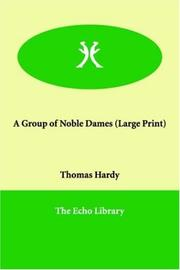 Cover of: A Group of Noble Dames by Thomas Hardy