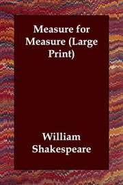 Cover of: Measure for Measure (Large Print) by William Shakespeare
