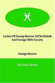 Letters of George Borrow to the British and Foreign Bible Society PDF