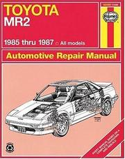 Toyota MR2 owners workshop manual PDF