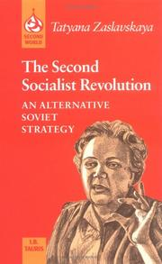 The second socialist revolution by T. I. Zaslavskai͡a︡