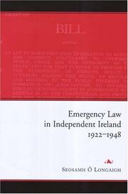 Emergency Law in Independent Ireland, 1922-1948 PDF