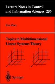 Topics in Multidimensional Linear Systems Theory PDF