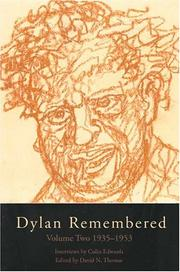 Dylan Remembered by David N. Thomas