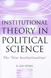 Institutional Theory in Political Science by B. Guy Peters