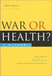 War Or Health? PDF