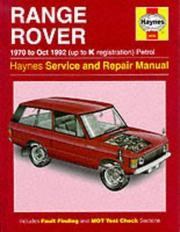 Range Rover Service and Repair Manual PDF