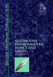 Automotive Environmental Impact and Safety (Autotech '97) (Imeche Seminar Publication,) PDF