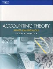 Accounting theory by Ahmed Riahi-Belkaoui