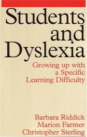 Students and Dyslexia by Barbara Riddick