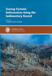 Tracing Tectonic Deformation Using the Sedimentary Record PDF