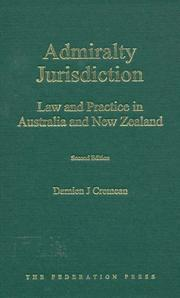 Admiralty jurisdiction by Damien J. Cremean